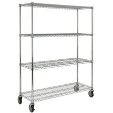 "67.2"" H x 50"" W x 18"" D Mobile Rack in Chrome"