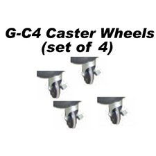 Glacik Caster Wheel in Black (Set of 4)
