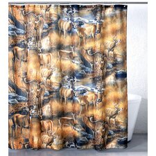 Deers Whitetail Polyester Shower Curtain