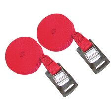 12' Canoe and Kayak Cam Buckle Load Straps in Red (Set of 2)