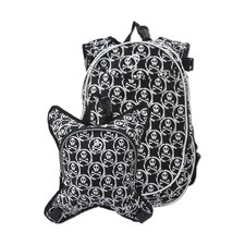 O3 Innsbruck Skulls Diaper Bag Backpack with Detachable Lunch Cooler
