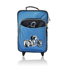 Kids Luggage with Integrated Cooler in Blue Motorcycle