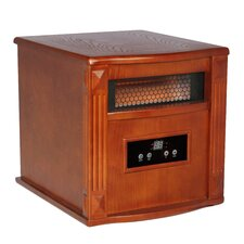 Gold 1,500 Watt Infrared Cabinet Portable Space Heater