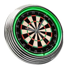 Dart Board Neon Clock
