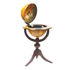"Italian Style 26"" Floor Globe Bar in Old World"
