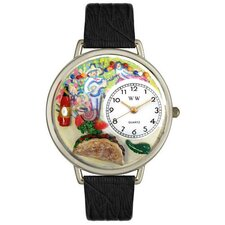Unisex Taco Lover Watch in Silver