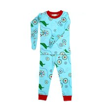 Mitted Jammie Bicycles Organic Pajama