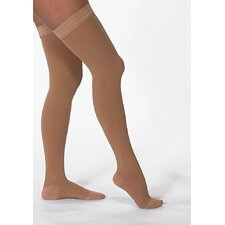 USA 20-30 mmHg Closed Toe Mid-Thigh Stocking with Silicone Top