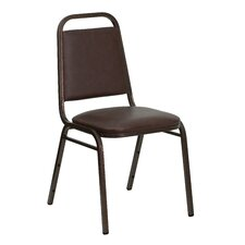 "1.5"" Hercules Series Trapezoidal Back Stacking Banquet Chair with Copper Vein Frame"