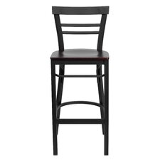 Hercules Series Ladder Back Metal Restaurant Bar Stool
