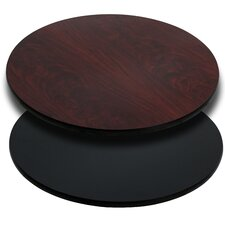 Round Reversible Laminate Table Top
