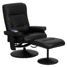 Heated Reclining Massage Chair and Ottoman