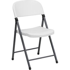 Plastic Folding Chair with Charcoal Frame