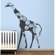 Fauna Floral Giraffe Wall Decal