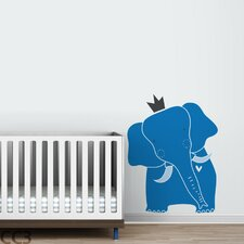 Baby Zoo King Elephant Wall Decal