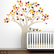 Owl Tree Extra Large Wall Decal
