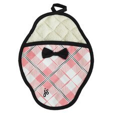 Pretty In Plaid Scalloped Pot Mitt
