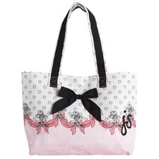 Feather De Lis Tote Bag with Bow