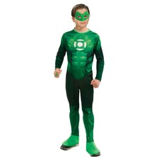 Green Lantern Standard Deluxe Muscle Chest Hal Jordan Teen Costume