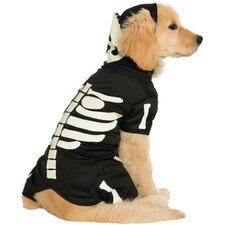 Glow in the Dark Skeleton Hoodie Dog Costume