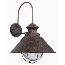 Nautica One Light Outdoor Wall Lamp in Rusty Brown