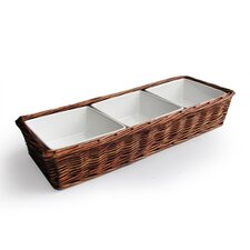 Willow Three Section Serving Tray