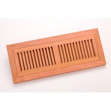 "14.375"" x 4.375"" Brazilian Cherry Flush Mount Vent"