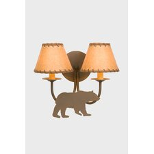 Bear Double Light Wall Sconce