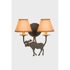 Moose Double Light Wall Sconce