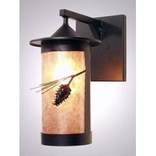Ponderosa Pine 1 Light Outdoor Hanging Wall Lantern