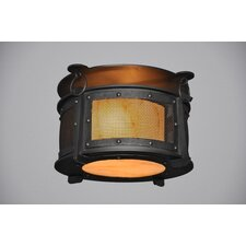 Rogue River 1 Light Harstene Mesh Flush Mount