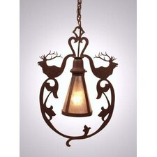 Bavarian Elk 1 Light Hanging Lantern