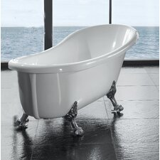"Naples 66"" x 17"" Clawfoot  Slipper Tub"