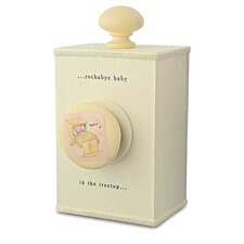 """Rockabye Baby"" Wind Up Music Box in Distressed Cream"