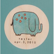 Elephant Picture Frame in Distressed Turquoise