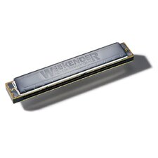 Weekender 24 Hole Harmonica in Chrome - Key of C