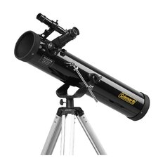 AstroWatch 700x76 Reflector Telescope in Black