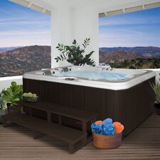 3 Person 34-Jet Lounger Spa with Backlit LED Waterfall