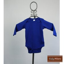 Long Sleeve Infant Bodysuit in Royal Blue