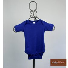 Short Sleeve Infant Bodysuit in Royal Blue