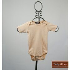 Short Sleeve Infant Bodysuit in Tan