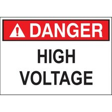 'Danger High Voltage Do Keep Out' (Bilingual Sign) Safety Signs