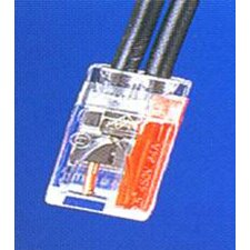 Push-In Wire Connectors in Red with 2 Pole (Hanging Bag 25 Pack)