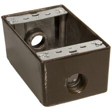 Weatherproof Boxes - One Gang 18 Cubic Inch Capacity - 3 Outlet Holes