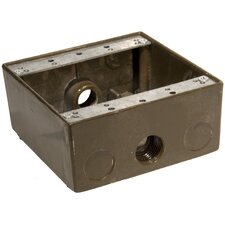 "Weatherproof Boxes in Bronze with Outlet Holes 0.5"" in Bronze"