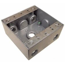"4.5"" x 2"" Weatherproof Boxes in Gray with 5 Outlet Holes"