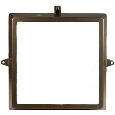 Medium Floodlight Replacement Door Frame in Bronze with Glass Mounted