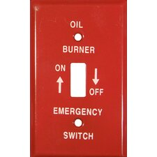 1 Gang Gas Emergency Metal Switch Plates