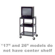 "Pixmate 18"" x 24"" Shelf Standard Television Cart [17"", 25.5"", 34"", 42"" Heights]"