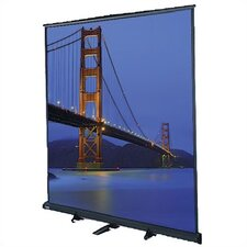 "Matte White Floor Model C Portable Manual Screen - 105"" x 140"" Video Format"